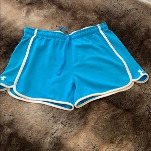 Under Armour Blue Running Shorts - Size Small